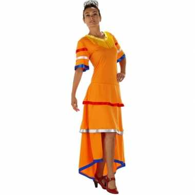 Feestwinkel |  Oranje Samba dames jurk morgen Amsterdam