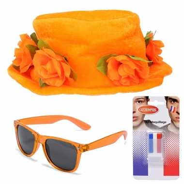 Feestwinkel | oranje supporters verkleed set morgen amsterdam
