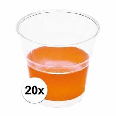 Feestwinkel | oranje wegwerp bekertjes 20 stuks morgen amsterdam