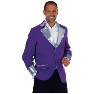 Paars zilver glitter jas heren