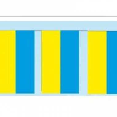 Papieren vlaggenlijn oekraine