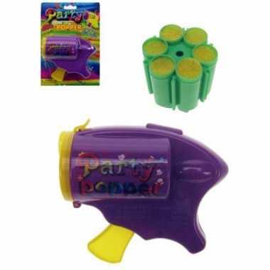 Partypopper speelgoed pistool