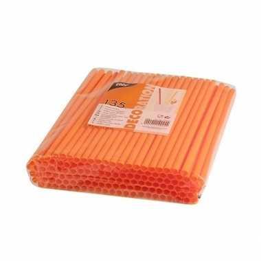 Feestwinkel | plastic drinkrietjes oranje 270 stuks morgen amsterdam