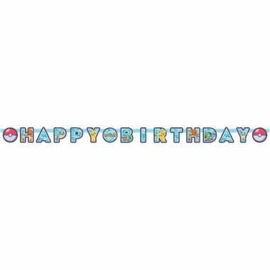 Feestwinkel | pokemon kinderfeestje letterslinger/wenslijn 218 x 12 c