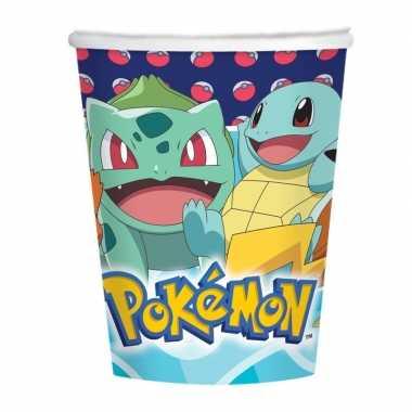 Feestwinkel | pokemon thema bekers 16 stuks tafeldecoratie morgen ams