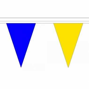 Feestwinkel | polyester vlaggenlijn blauw met geel morgen amsterdam