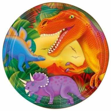 Feestwinkel | prehistorie/dinosaurus borden 8 stuks morgen amsterdam