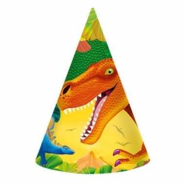 Prehistorie dinosausrus hoedjes 8 stuks