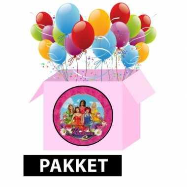 Prinsessia versieringspakket voor kinderfeestjes