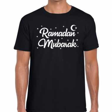 Feestwinkel | ramadan shirt ramadan mubarak zwart voor heren morgen a