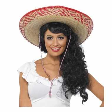 Rieten sombrero voor dames