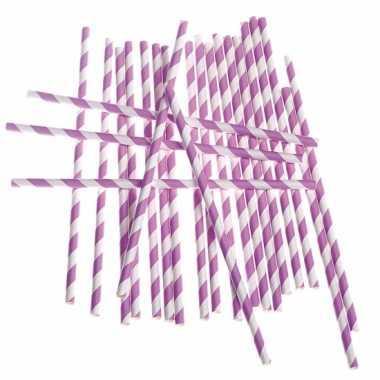 Rietjes met lila paarse streepjes