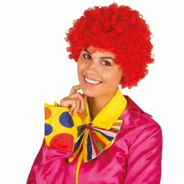 Feestwinkel | rode krullen clownspruik verkleed accessoire morgen ams