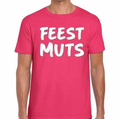 Feestwinkel | roze feestmuts shirt voor heren morgen amsterdam