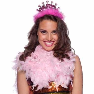 Feestwinkel | roze vrijgezellenfeest party tiara voor volwassenen mor