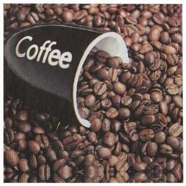 Servetjes koffieboon 20 stuks