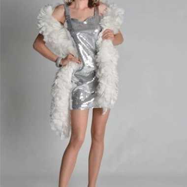 Feestwinkel |  Sexy zilveren dames jurkjes morgen Amsterdam