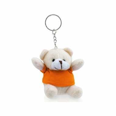 Feestwinkel | sleutelhangers beer met oranje shirt morgen amsterdam