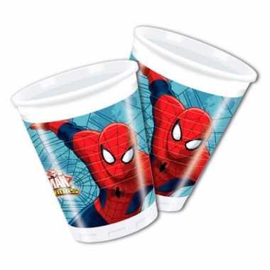 Spiderman thema bekertjes 16 stuks