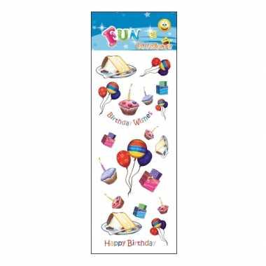 Stickervel feest en verjaardag