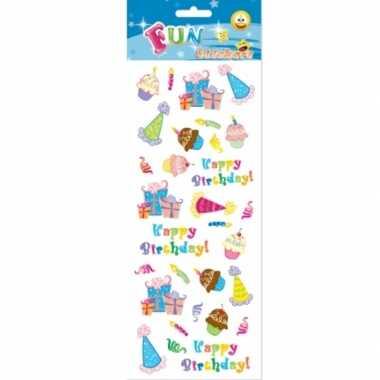Stickervel happy birthday 10081121