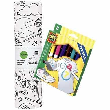 Feestwinkel | stof om op te kleuren met textielstiften voor kinderen