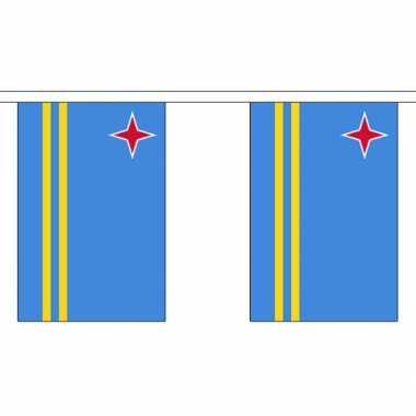 Stoffen vlaggenlijn aruba 3 meter
