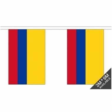 Stoffen vlaggenlijn colombia 3 meter