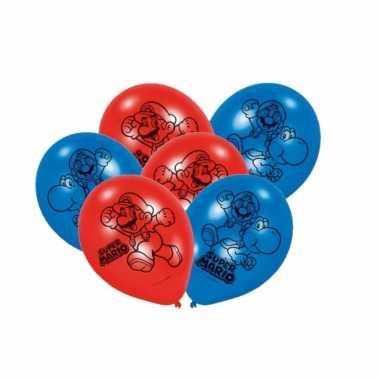 Feestwinkel | super mario thema ballonnen 12x stuks morgen amsterdam