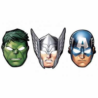 The avengers feest maskers 8 stuks