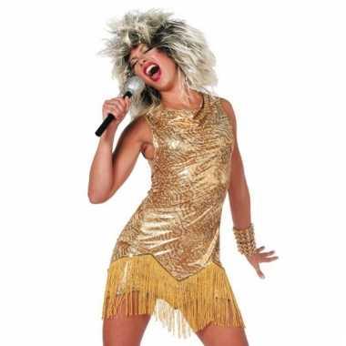 Tina turner jurk goud