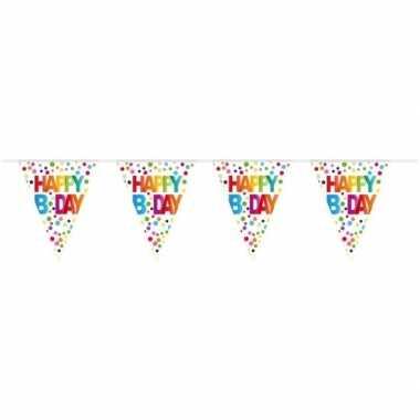 Feestwinkel | verjaardag vlaggenlijn b-day/happy birthday 10 meter mo