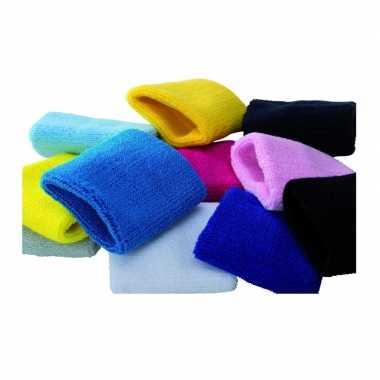 Feestwinkel | voordelige pols zweetbandjes in alle kleuren 8 cm morge