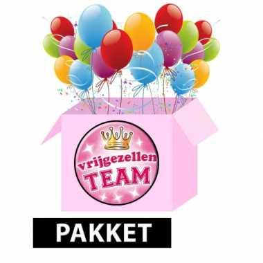 Vrijgezellenfeest feestpakket roze 10061341