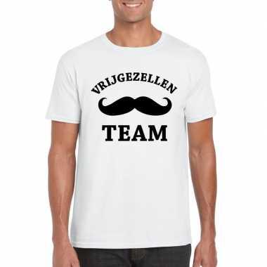 Vrijgezellenfeest-shirt wit voor heren