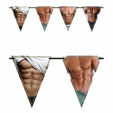 Feestwinkel | vrijgezellenfeest vlaggenlijn / slingers torso morgen a