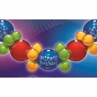 Feestwinkel |  Vrolijke ballonnen slinger Happy Birthday morgen Amste