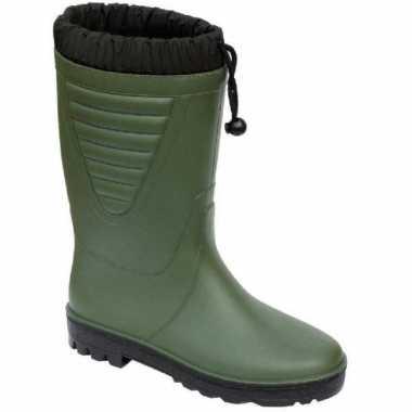 Warme kuitlaarzen groen