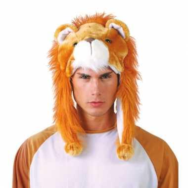 Warme leeuwen muts voor volwassenen