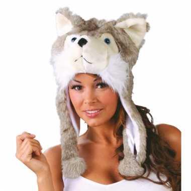 Warme wolf muts voor volwassenen