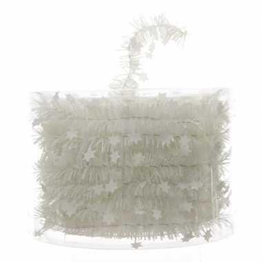 Feestwinkel   witte feestslinger folie met ster 700 cm morgen amsterd