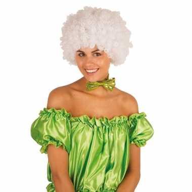 Feestwinkel | witte krullen clownspruik verkleed accessoire morgen am