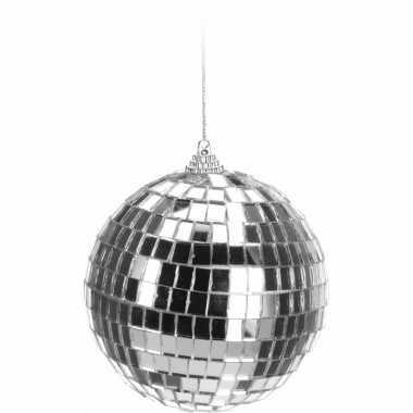 Feestwinkel | zilveren disco kerstbal 10 cm morgen amsterdam