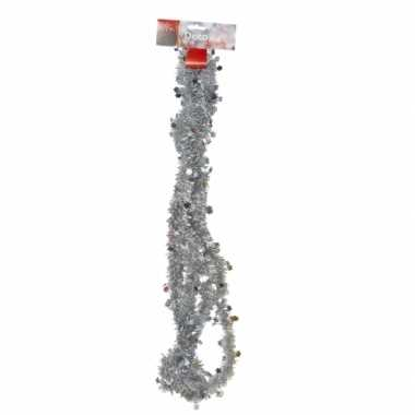 Feestwinkel | zilveren feestslinger 270 cm morgen amsterdam