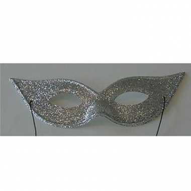 Zilveren glitter oogmaskers