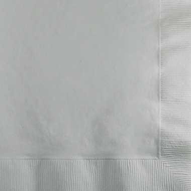 Feestwinkel   zilveren servetten 33x33 cm 20 stuks morgen amsterdam