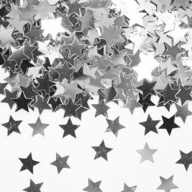 Feestwinkel | zilveren sterretjes confetti versiering 14 gram morgen