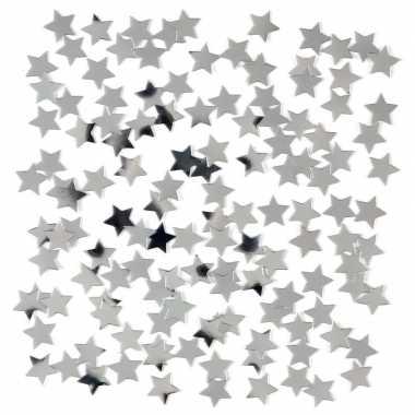 Feestwinkel | zilveren sterretjes confetti versiering 15 gram morgen