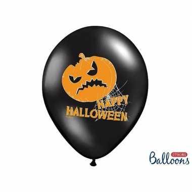 Feestwinkel | zwarte happy halloween feestballonnen 30 cm morgen amst