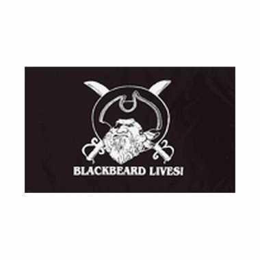 Zwarte piratenvlag blackbeard